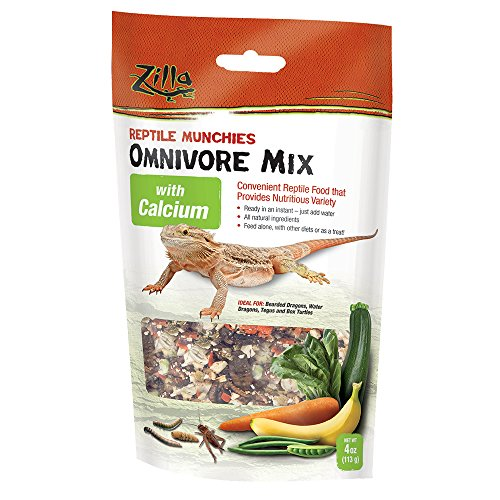 Omnivore Mix (Zilla Reptile Food Munchies Omnivore Mix with Calcium, 4-Ounce)