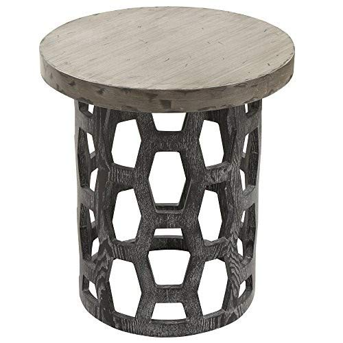 (Armen Living LCCNLATO Centennial Occasional Table with Grey Wood Top and Grey Wood Finish)