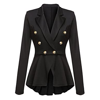 Mujer Manga Larga Blazer - Moda Color Sólido Slim Fit OL Traje ...