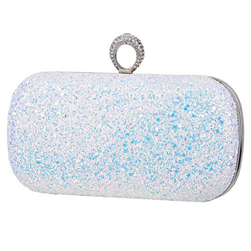 Black Pink Evening Bags Glitter Clutches Dance Wedding Party With Two Chain Strap