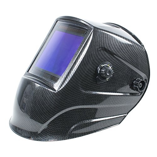 "TGR Extra Large View True Color Auto Darkening Welding Helmet - 4""W x 3.65""H (Carbon Fiber)"
