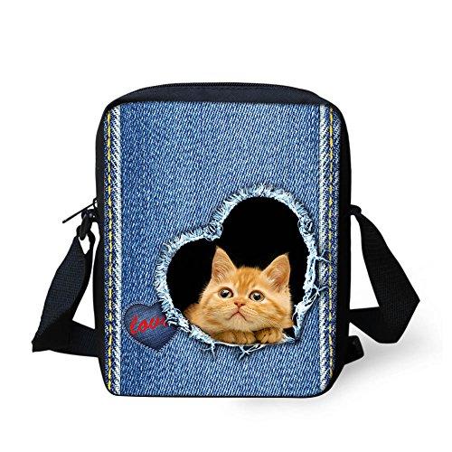 HUGS IDEA Y-CC3501E - Bolso cruzados para mujer Morado cachorro Small Kitten