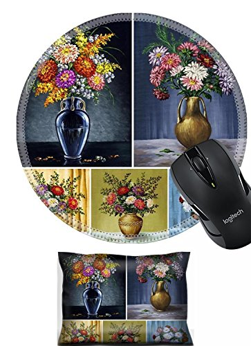 - Liili Mouse Wrist Flowers asters in a vases Picture oil paints on a canvas set Photo 8550998