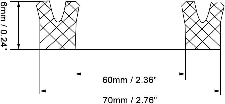 120 mm x 135 mm x 9 mm sourcing map Hydraulikdichtung Kolbenschaft USH O Ring /Ölabdichtung