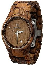 Wooden Watch By Gassen James - Men's Style Omicron III Zebra Wood