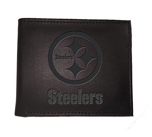 Team Sports America NFL Pittsburgh Steelers 7WLTB3824Wallet, Bi-Fold, Pittsburgh Steelers, Black