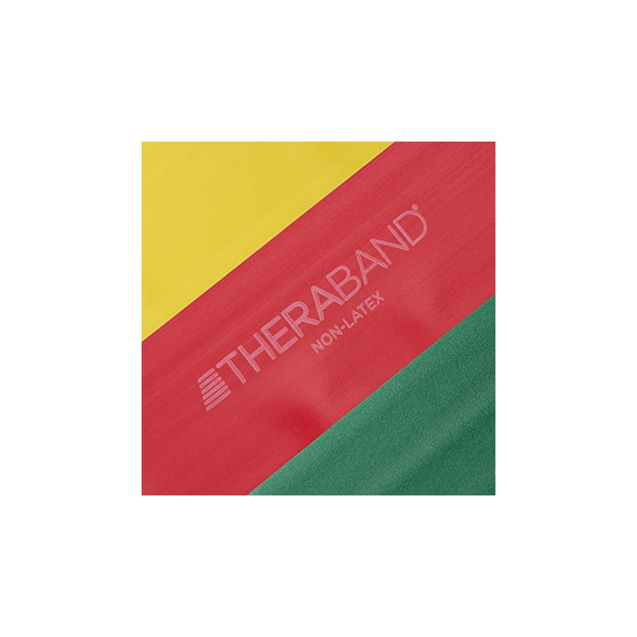 TheraBand Resistance Bands Set, Professional Non Latex Elastic Band For Upper & Lower Body