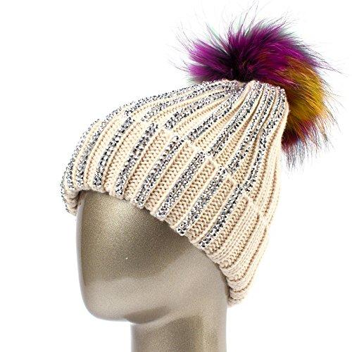 QETUOAD Frauen Hut Winter Warm Acryl Gestrickte Mützen Mit Damen Knitting Skullies Caps B07D7731DD Bekleidung Abholung in der Boutique