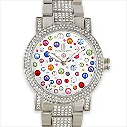 Swarovski Crystal Steel & Zirconia Belt Watch