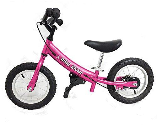 Glide Bikes Kids Mini Glider Balance Bike with Patented Slow Speed Geometry