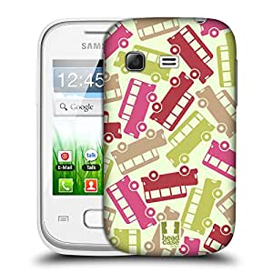 Head Case Designs Bus Vehicular Patterns Protective Snap-on Hard Back Case Cover for Samsung Galaxy Pocket S5300