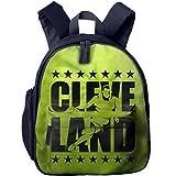 Cleveland Basketball Green Kids Backpack Preschool Boys Girls Toddler School Bags