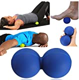 Facial Nerves Teeth - Massage Ball Physio Roller Gym Trigger Point Pain Relief Tool Blue by GokuStore