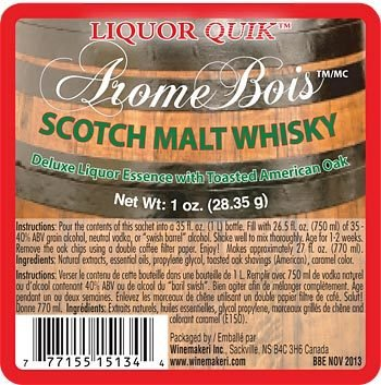 (Liquor Quik Arome Bois Deluxe Liquor Essence With Toasted Oak (Scotch Malt Whisky))