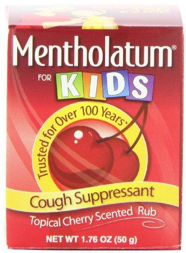 Mentholatum Ointment, Cherry Chest Rub For Kids, 1.76-Ounce