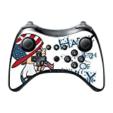 Cute Boy with American Flag Hat Happy 4th of July Quote Celebration Image Design Pattern Wii U Pro Controller Vinyl Decal Sticker Skin by Trendy Accessories