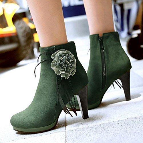 Autumn Green Women KemeKiss Boots Zipper HpwPv