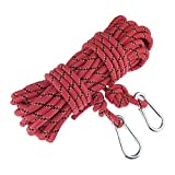 ROSY CLOUDS 15M(49ft) 300kg 3KN Safety Perfessional Rock Climbing Rappelling Auxiliary Rope, Diameter 10mm,100%Quality assurance