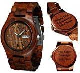 Wood Watch - Wooden Watch - Men's - Women's - Lady's Style Alpha I Rose Wood Personalized Engraving Watch
