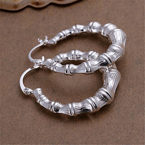 NYKKOLA Classic Design Fashion 925 Sterling Silver Beautiful Big Hoop Earrings