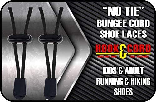 素早く固定 結ばない靴紐 子供/大人用 結ばない調節可能なゴム/バンジーコード紐 スニーカーやブーツに最適。
