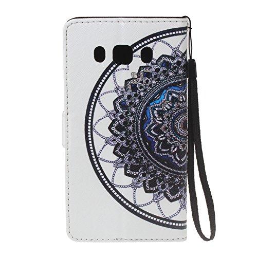 Para Samsung Galaxy J5 (2016) SM-J510F funda, (muchacha del globo) caja del teléfono de la PU patrón en relieve ,Función de Soporte Billetera con Tapa para Tarjetas correa de mano soporte para teléfon datura
