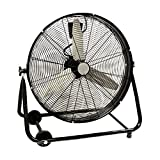 24 Inch Rolling Drum Floor Fan Shop Industrial Heavy Duty Commercial Warehouse by Electric California