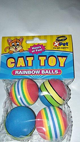 Vo Cat Rainbow Ball 4Pk