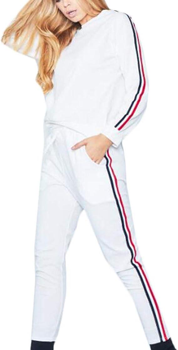 Pantaloni a Elastico per la Vita con Coulisse Invernale Autunno per Casual Jogging Training Casa Pigiama Set Tuta Sportiva da Donna Tuta Donna da Ginnastica 2 Pezzi Felpa con Cappuccio