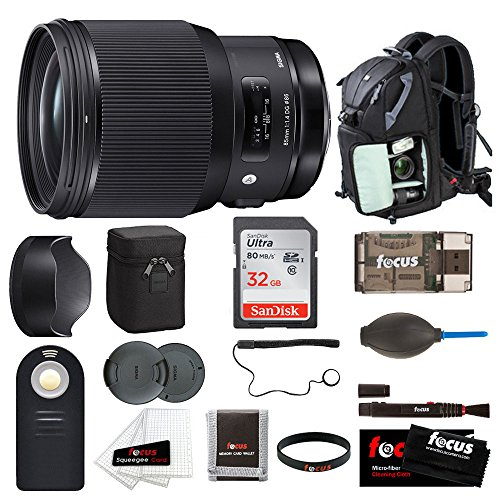 Sigma 85mm f/1.4 DG HSM Art Lens for Canon EF w/ Focus Accessory Bundle by Focus