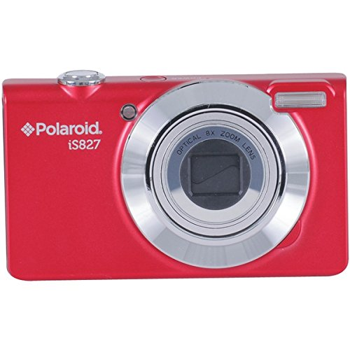 Polaroid IS827-RED-BOX-FHUT 16 Digital Camera with 3-Inch LCD (Red)