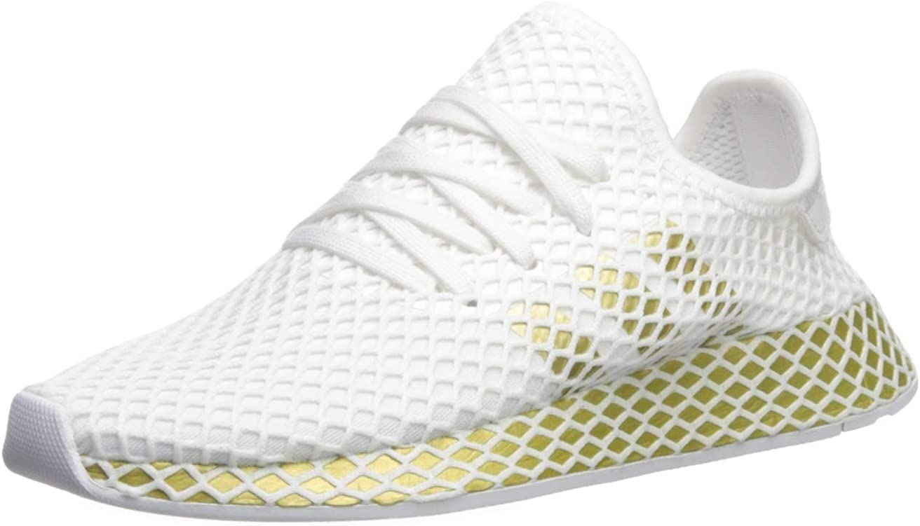 adidas Originals Damen Deerupt Runner, Weiß/Gold Metallic ...