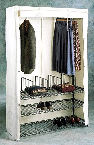 Stationary Armoire with Wire Shelf & Soft Cover