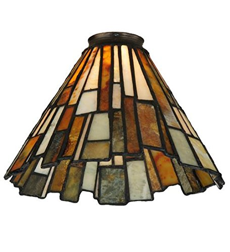 Lumtopia Meyda Tiffany 65632 Jadestone Delta Lamp Shade w...