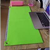 LLL-Large padded computer keyboard mat mouse pad simple game writing desks wristband , double fruit green