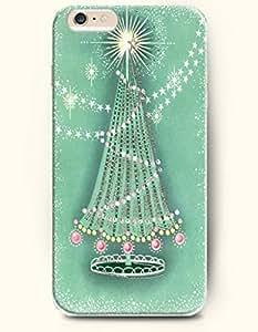 OOFIT Apple iPhone 6 case 4.7 inches - Merry Xmas Aquamarine Beautiful Xmas Tree