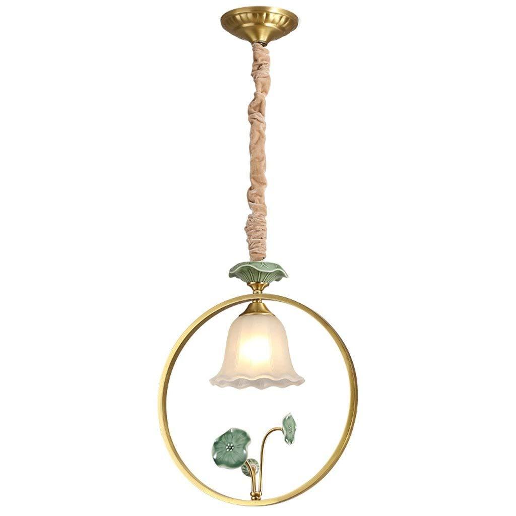 現代のシャンデリア照明ledセラミックアート装飾e27電球ペンダントランプ高さ調節可能なシーリングライト用ダイニングルームバスルーム寝室リビングルームの高さ B07TCNPRF2