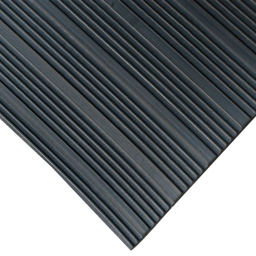 Rubber Mat Rolls (Rubber-Cal 03_167_W_CO_20 Composite Rib Corrugated Rubber Floor Mats, 1/8