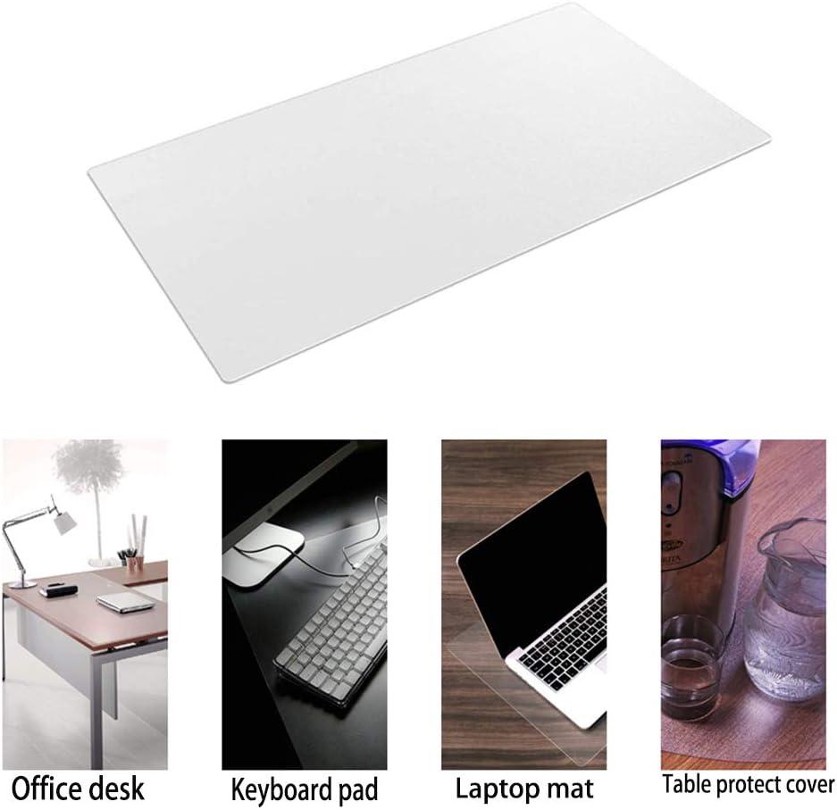 Rutschfeste Schreibtischunterlage Tischschutz Pink, 80 x 39,9 cm wasserdichtes PVC-Leder gro/ßes Mauspad leicht zu reinigen ultrad/ünn Laptop-Schreibunterlage f/ür B/üroarbeit//Zuhause//Dekoration