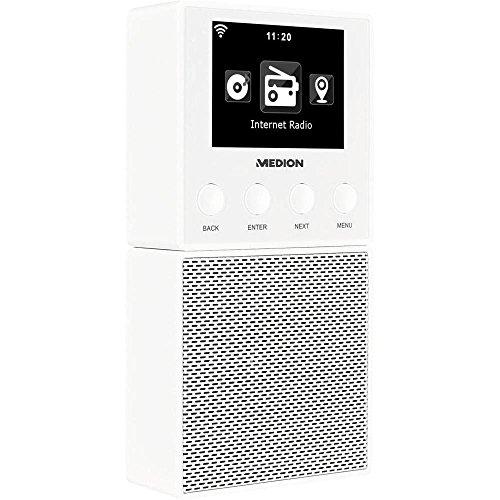 Medion Internet Steckdosenradio E85032 (MD 87248) Bluetooth®, Internetradio Weiß