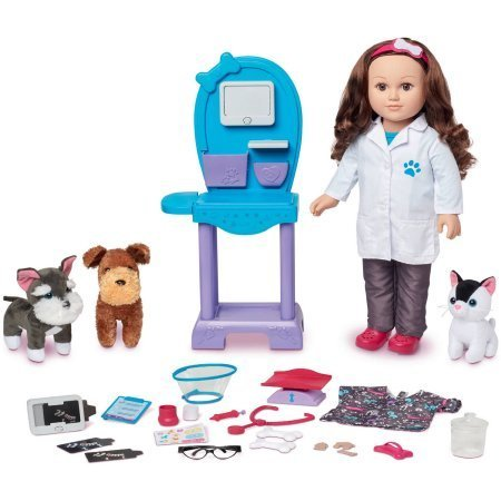 My Life As 18 Doll of the Year Vet Doll Play Set, Caucasian with Brown Hair by myLife Brand Products by myLife Brand Products