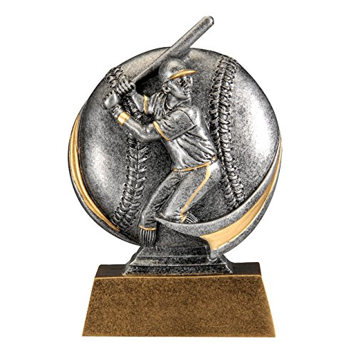 (Male Baseball MX500 Series Trophy with 3 lines of custom text )