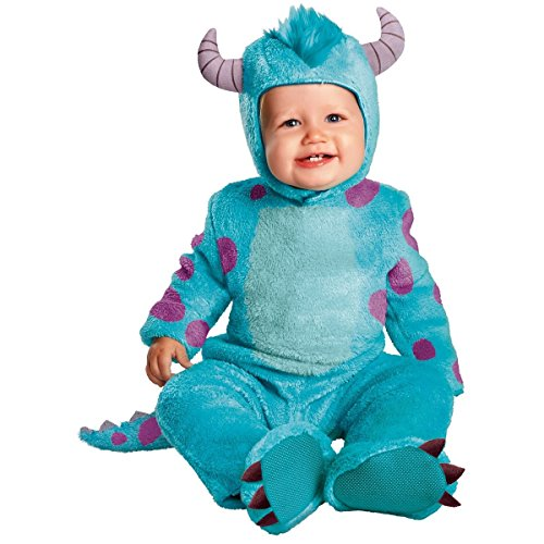 Disney Sulley Costume Adults (Monsters Inc Sulley Infant Toddler Child Kids Disney Jumpsuit Costume + Coolie (6-12mo))