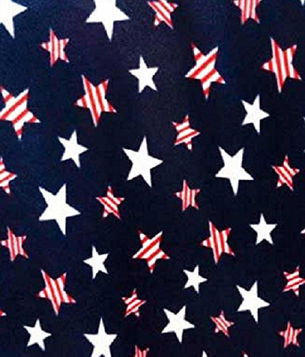 American Patriotic Stars Allover Fleece Fabric by the yard