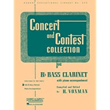 Concert And Contest Collection B Flat Bass Clarinet Solo Part Only (Rubank Educational Library)