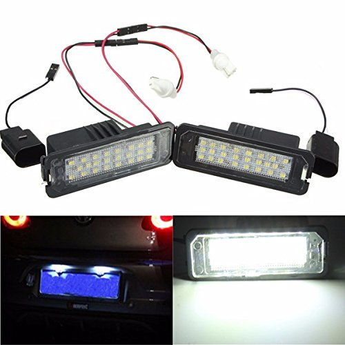 Golf Gti Iii (24 LED White License Number Plate Light Canbus For VW Passat Golf GTI MK5 MK6)