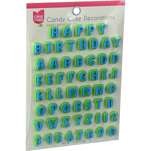 (Cake Mate Candy Decorations, Alphabet, 12)