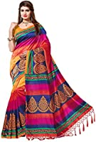 e-VASTRAM Women's Mysore Art Silk Saree with Blouse Piece (N