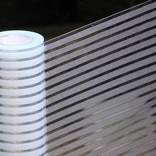 プライバシー ガラス フィルム,窓ガラス フィルム,ウィンドウ フィルム,光伝送 静的 ストライプ マット 接着剤 バルコニー 会議室-A 40x100cm(16x39inch)