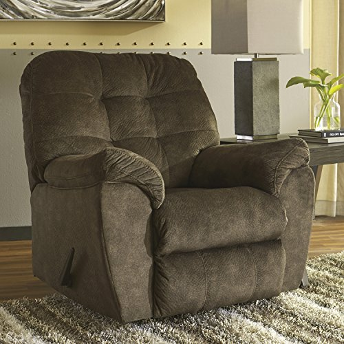 Flash Furniture Signature Design by Ashley Accrington Rocker Recliner in Earth Microfiber